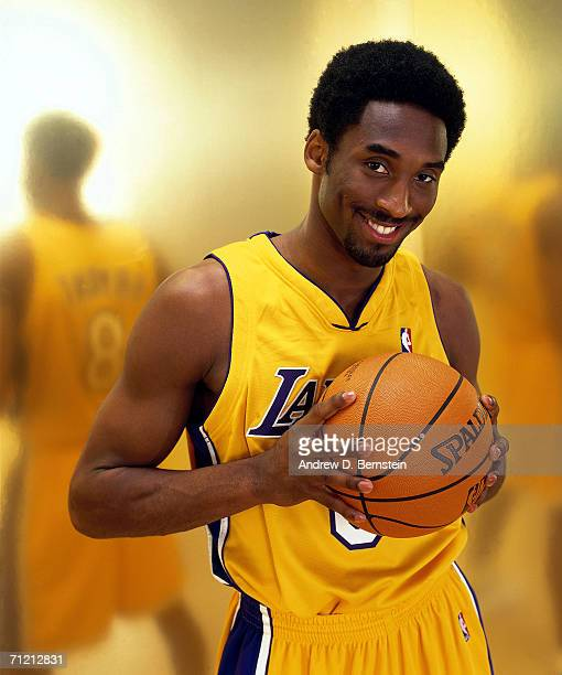 Kobe Bryant of the Los Angeles Lakers poses for a portait in 2001 NOTE TO USER User expressly acknowledges that by downloading and or using this...