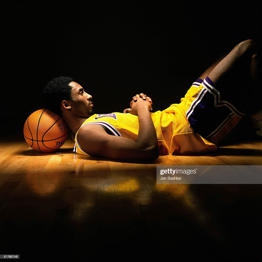 Kobe Bryant #8 of the Los Angeles Lakers poses for a portrait circa 1998 in Los Angeles, California.