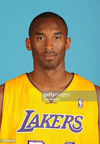 Kobe Bryant of the Los Angeles Lakers poses for a portrait during NBA Media Day at Toyota Sports Center on September 25 2010 in El Segundo California...