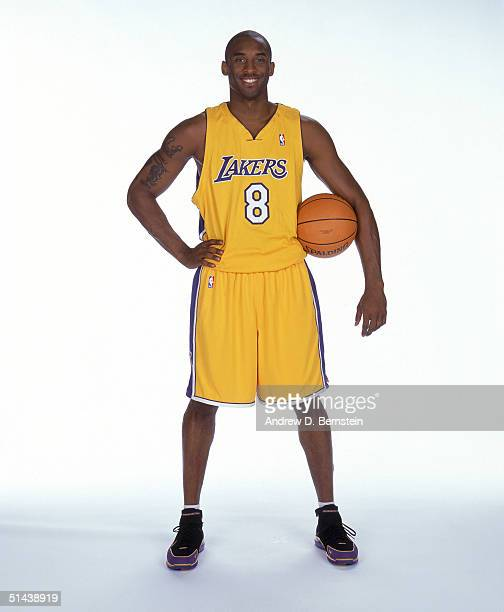 Kobe Bryant of the Los Angeles Lakers poses for a portrait during NBA Media Day on October 4 2004 in Los Angeles California NOTE TO USER User...