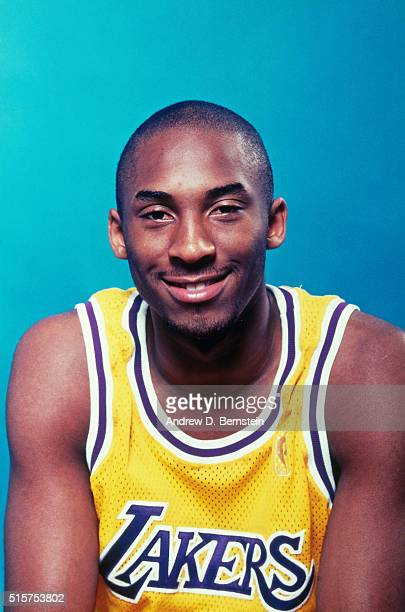 Kobe Bryant of the Los Angeles Lakers poses for a portrait during media day on October 1 1996 at the Great Western Forum in Inglewood California NOTE...
