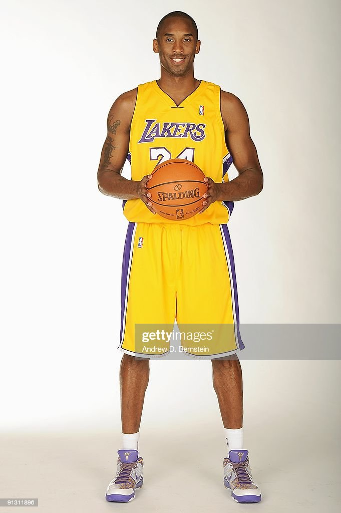 Kobe Bryant #24 of the Los Angeles Lakers poses for a portrait during 2009 NBA Media Day on September 29, 2009 at Toyota Sports Center in El Segundo, California.