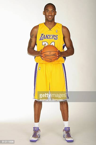 Kobe Bryant of the Los Angeles Lakers poses for a portrait during 2009 NBA Media Day on September 29 2009 at Toyota Sports Center in El Segundo...