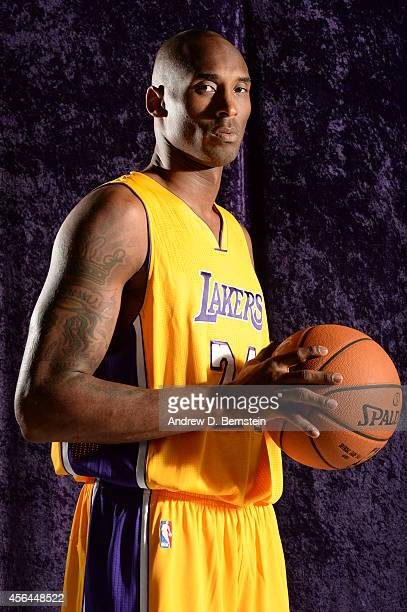 Kobe Bryant of the Los Angeles Lakers poses for a portrait during the Los Angeles Lakers Media Day at the Toyota Sports Center on September 29 2014...
