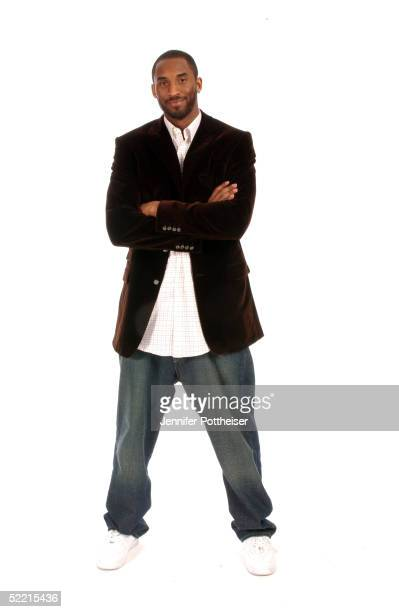 Kobe Bryant of the Los Angeles Lakers poses for a portrait during the 2005 NBA All-Star Media Availabilty at the Westin Hotel February 18, 2005 in...