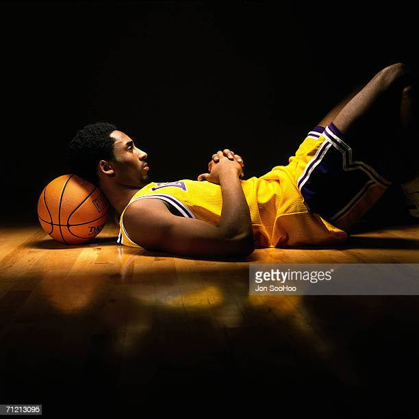Kobe Bryant of the Los Angeles Lakers poses for a portrait in 1998 in Los Angeles California NOTE TO USER User expressly acknowledges and agrees that...