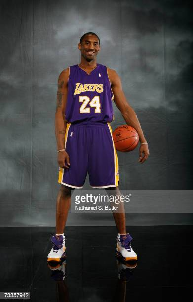 Kobe Bryant of the Los Angeles Lakers poses for a portrait on AllStar Saturday Night during the NBA AllStar Weekend on February 17 2007 at the Thomas...