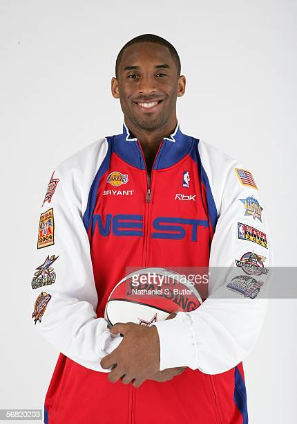 Kobe Bryant of the Los Angeles Lakers poses in his 2006 NBA AllStar uniform for a studio photo shoot prior to a game against the New York Knicks on...