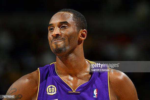 Kobe Bryant of the Los Angeles Lakers reacts to a call against the Denver Nuggets on December 5 2007 at the Pepsi Center in Denver Colorado NOTE TO...