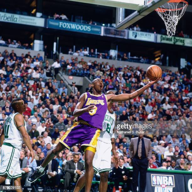 Kobe Bryant of the Los Angeles Lakers shoots during a game played on November 17 1996 at the FleetCenter in Boston Massachusetts NOTE TO USER User...