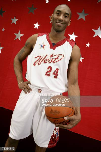 Kobe Bryant of the Western Conference AllStar poses for a portrait prior to the NBA AllStar Game at The Thomas Mack Center February 18 2007 in Las...