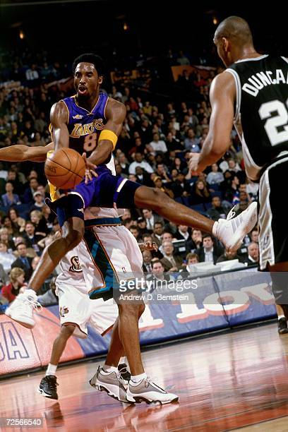 Kobe Bryant of the Western Conference AllStars attempts a pass against the Eastern Conference AllStars during the 2000 NBA AllStar Game at The Arena...