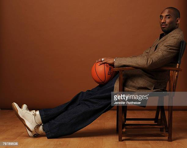 Kobe Bryant of the Western Conference AllStars poses for a portrait during All Star Media Availability on February 15 2008 at the Sheraton New...