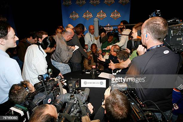 Kobe Bryant of the Western Conference AllStars speaks to the media during All Star Media Availability on February 15 2008 at the Sheraton New Orleans...