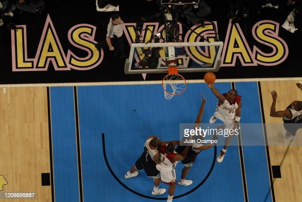 Kobe Bryant of the Western Conference shoots the ball against Eastern Conference during the 2007 NBA All-Star Game on February 18, 2007 at the Thomas...