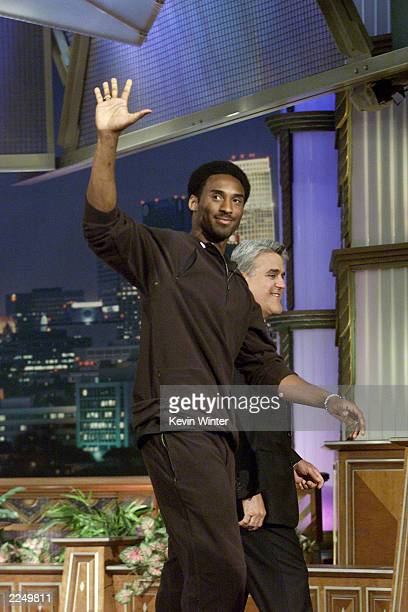 Kobe Bryant on the 'Tonight Show with Jay Leno' at the NBC Studios in Burbank Ca 6/28/01 Photo by Kevin Winter/Getty Images