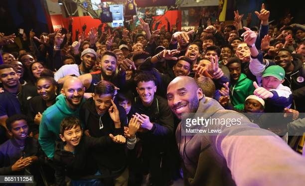 Kobe Bryant pictured at Nike Town London as part of his European Black Mamba Tour with Nike on October 22 2017 in London England