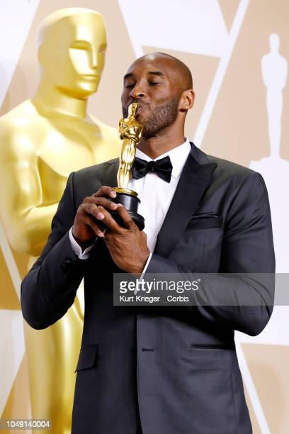 Kobe Bryant poses in the press room during the 90th Annual Academy Awards at Hollywood & Highland Center on March 4, 2018 in Hollywood, California.