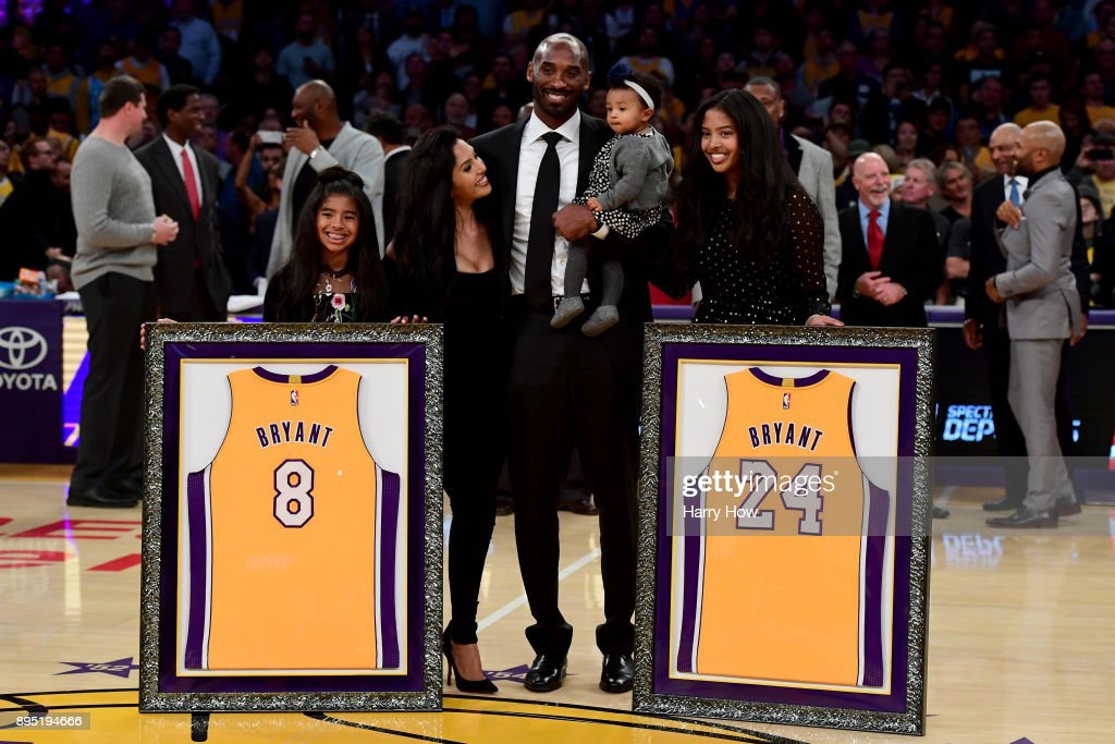 Twice as Nice: Lakers Raise Kobe Bryant's No. 8 and No. 24 to the Rafters