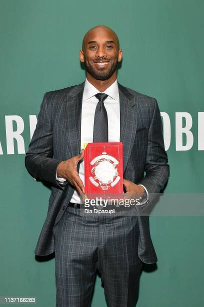 Kobe Bryant promotes his book 'Training Camp ' at Barnes Noble Union Square on March 20 2019 in New York City