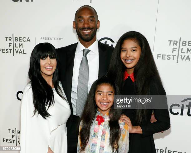 Kobe Bryant, Vanessa Bryant, Gianna Briant, and Natalia Bryant attend Tribeca Talks during the 2017 Tribeca Film Festival at Borough of Manhattan...