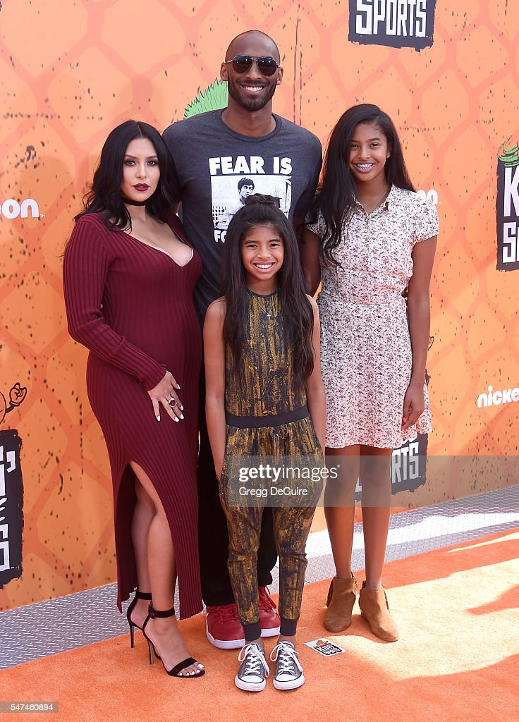 Kobe Bryant, wife Vanessa Bryant, daughter's Gianna Maria Onore Bryant and Natalia Diamante Bryant arrive at Nickelodeon Kids' Choice Sports Awards 2016 at UCLA's Pauley Pavilion on July 14, 2016 in Westwood, California.