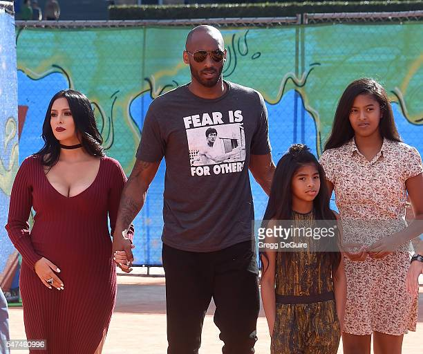 Kobe Bryant, wife Vanessa Bryant, daughter's Gianna Maria Onore Bryant and Natalia Diamante Bryant arrive at Nickelodeon Kids' Choice Sports Awards...