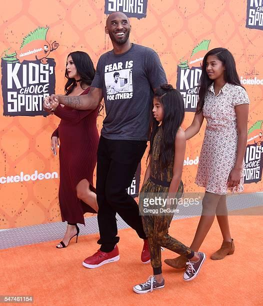 Kobe Bryant wife Vanessa Bryant daughter's Gianna Maria Onore Bryant and Natalia Diamante Bryant arrive at Nickelodeon Kids' Choice Sports Awards...