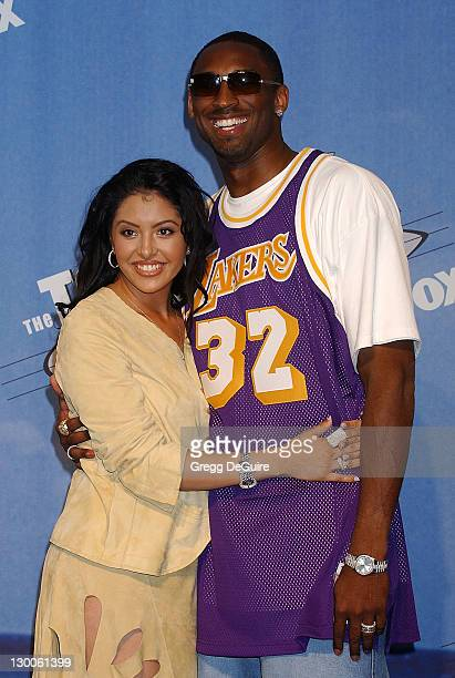 Kobe Bryant wife Vanessa during The 2002 Teen Choice Awards Press Room at Universal Amphitheater in Universal City California United States