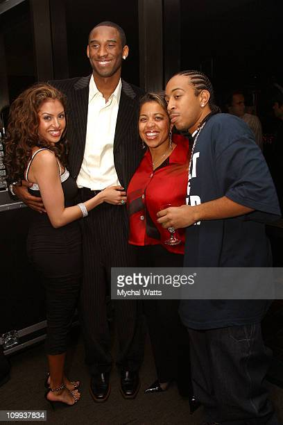 Kobe Bryant, wife Vanessa, Ludacris and mother during GQ Magazine 2004 NBA All Star Party at Pacific Design Center in Los Angeles, California, United...