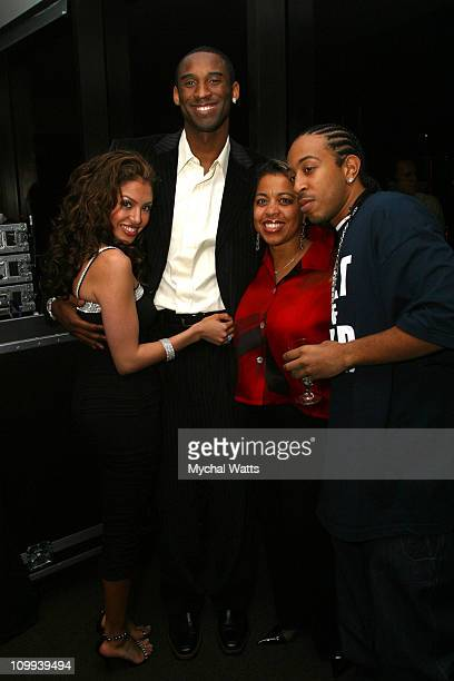 Kobe Bryant wife Vanessa Ludacris and mother during GQ Magazine 2004 NBA All Star Party at Pacific Design Center in Los Angeles California United...