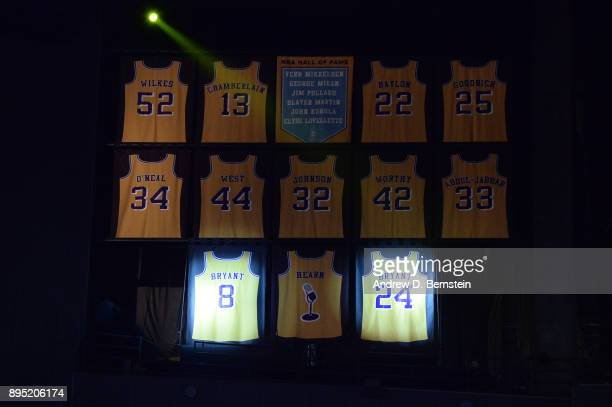 Kobe Bryant's jersey retirement ceremony on December 18 2017 at STAPLES Center in Los Angeles California NOTE TO USER User expressly acknowledges and...