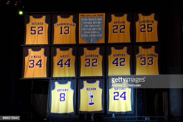 Kobe Bryant's jersey retirement ceremony on December 18, 2017 at STAPLES Center in Los Angeles, California. NOTE TO USER: User expressly acknowledges...
