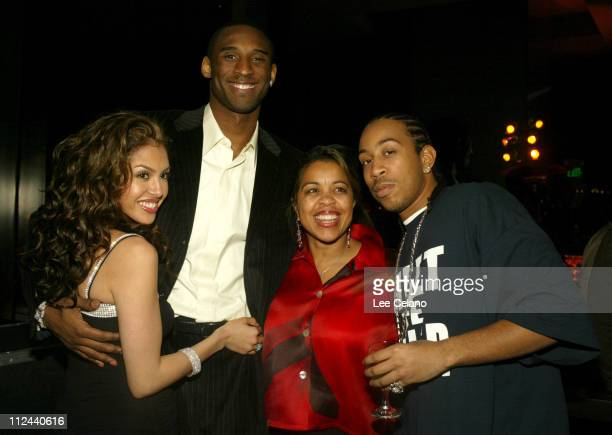 Kobe Brynat, wife Vanessa, Ludacris and mother during GQ Magazine 2004 NBA All Star Party at Pacific Design Center in Los Angeles, California, United...