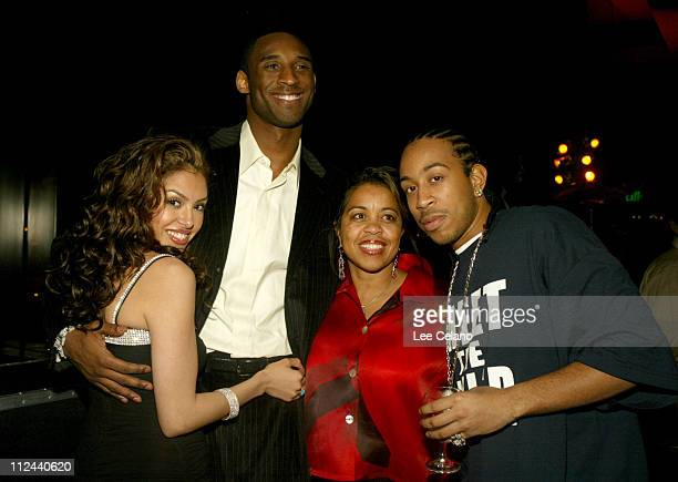 Kobe Brynat wife Vanessa Ludacris and mother during GQ Magazine 2004 NBA All Star Party at Pacific Design Center in Los Angeles California United...
