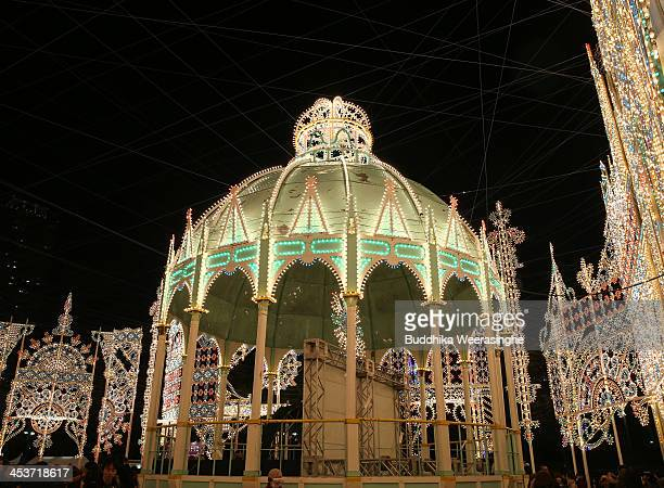 Kobe Luminarie is illuminated as part of the 19th Kobe Luminarie on December 5 2013 in Kobe Japan The annual illumination event which began in 1995...