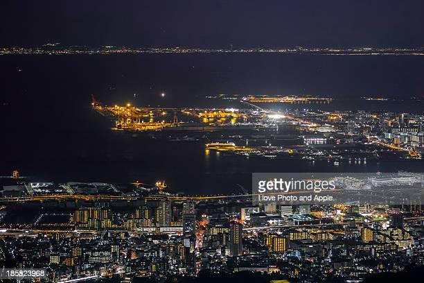 Kobe Port Island night view