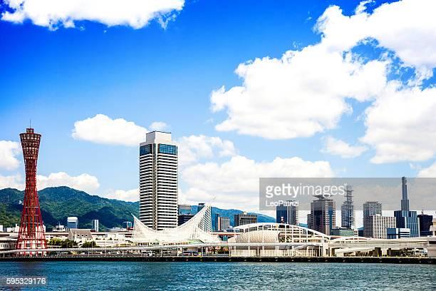 kobe skyline. japan - 神戸市 ストックフォトと画像