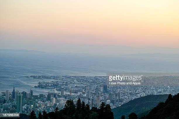 kobe twilight - 神戸市 ストックフォトと画像