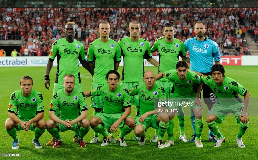 Cf Kobenhavn Team Pose Before Uefa Europa League Group B Football