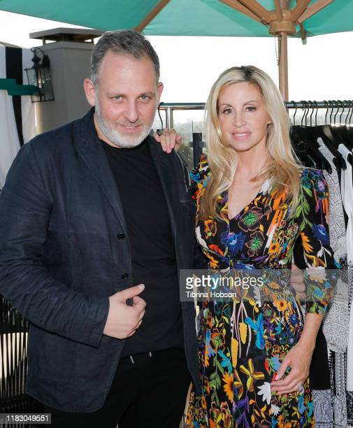 Kobi Halperin and Camille Grammer attend Kobi Halperin's Pre Spring 2020 collection hosted by Mr Warburton Magazine at The Chamberlain on October 23...