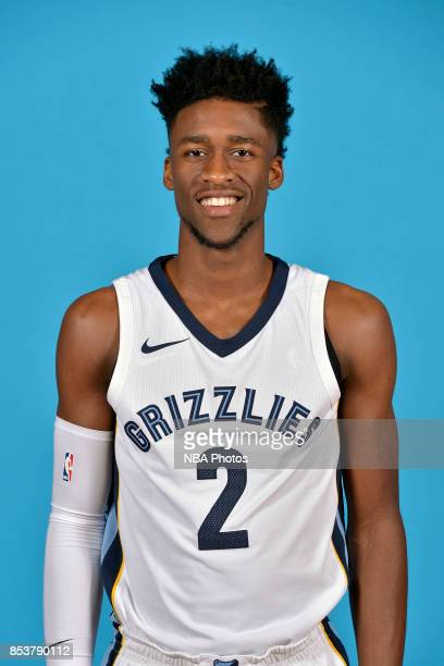 Kobi Simmons of the Memphis Grizzlies poses for a head shot during Memphis Grizzlies Media Day on September 25 2017 at FedExForum in Memphis...
