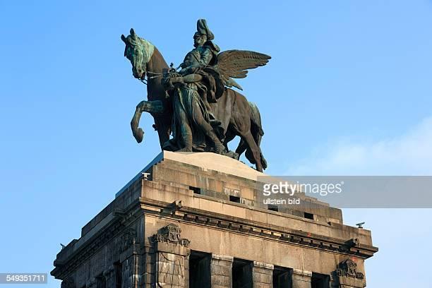 Koblenz Deutsches Eck monument for Emperor Wilhelm I by Bruno Schmitz and Emil Hundrieser equestrian statue