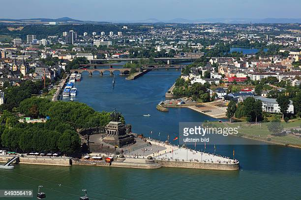 Koblenz Deutsches Eck Moselle flows into the Rhine Moselle mouth river mouth monument Emperor Wilhelm I