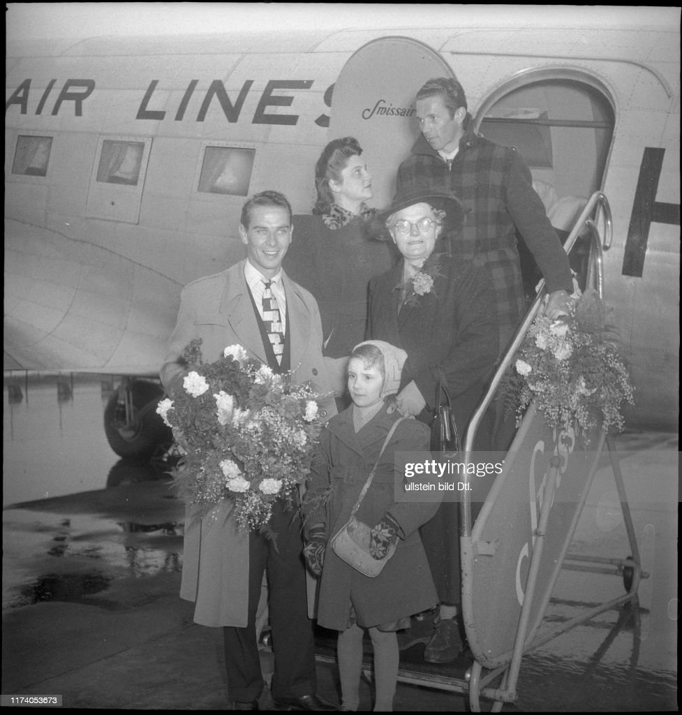 Koblet und Diggelmann back from the US, 1949 News Photo