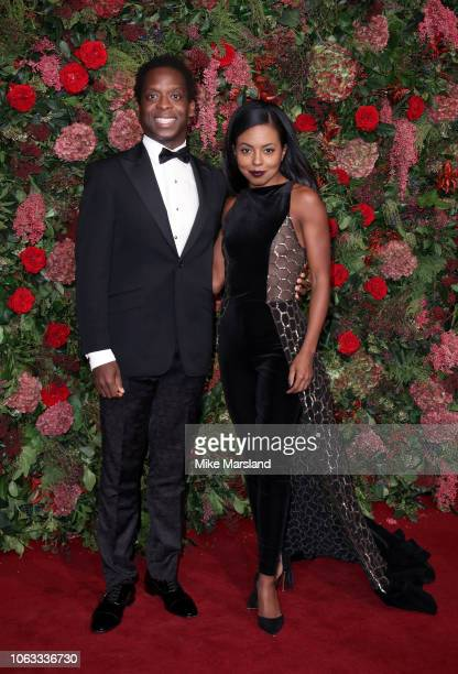 Kobna Holbrook Smith and Adrienne Warren attend the Evening Standard Theatre Awards 2018 at Theatre Royal on November 18 2018 in London England