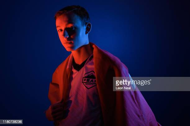Kobra of Peak eSports poses with the Danish flag for a portrait at the epicLAN esport tournament at the Kettering Conference Centre on October 12...