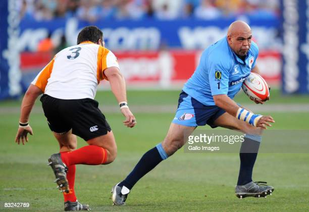 Kobus Calldo and Gurthro Steenkamp in action during the Absa Currie Cup semi final match between Blue Bulls and Cheetahs held at Loftus Versfeld...