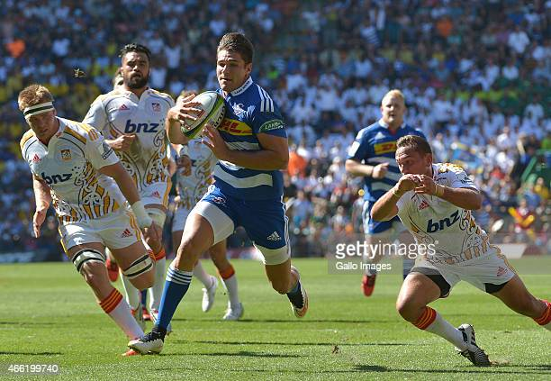 Kobus van Wyk of the Stormers during the Super Rugby match between DHL Stormers at Chiefs at DHL Newlands on March 14 2015 in Cape Town South Africa