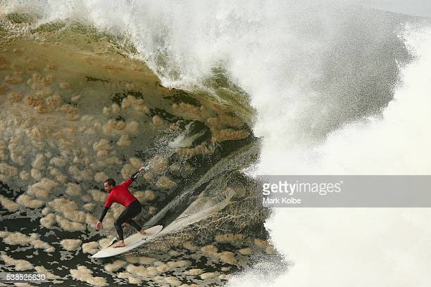 Koby Abberton of Australia competes during the Red Bull Cape Fear surfing event at Cape Solander Kamay Botany Bay National Park on June 7 2016 in...
